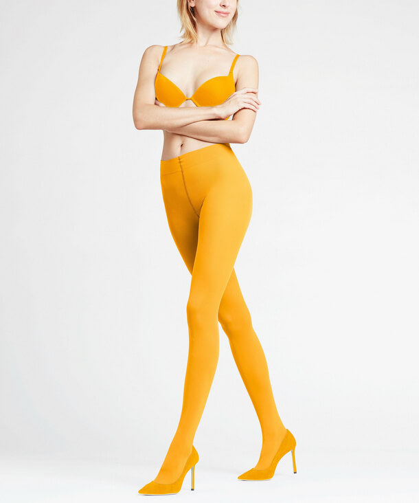 Yellow tights from Falke