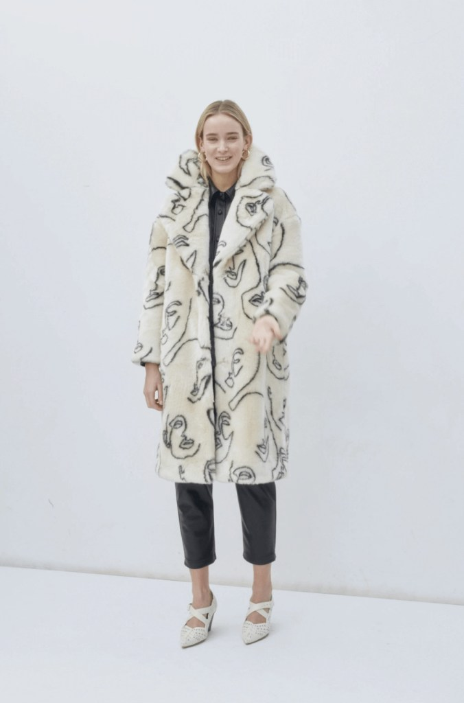 Katie Faux Fur Long Coat Faces from jakke ldn