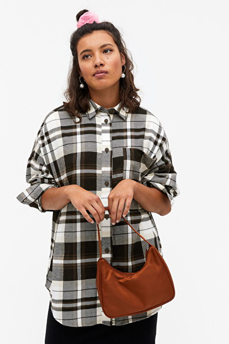 Monki cares Oversized flannel shirt