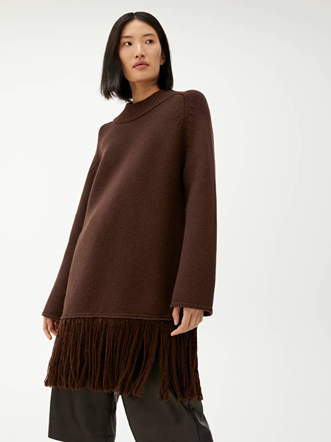 Arket Fringed Wool Jumper