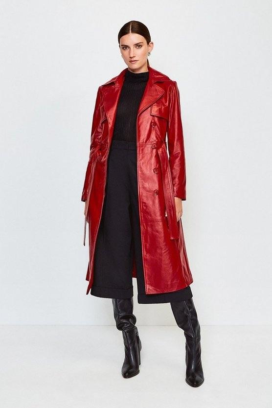 Leather Trench Coat, now £471.75, Karen Millen