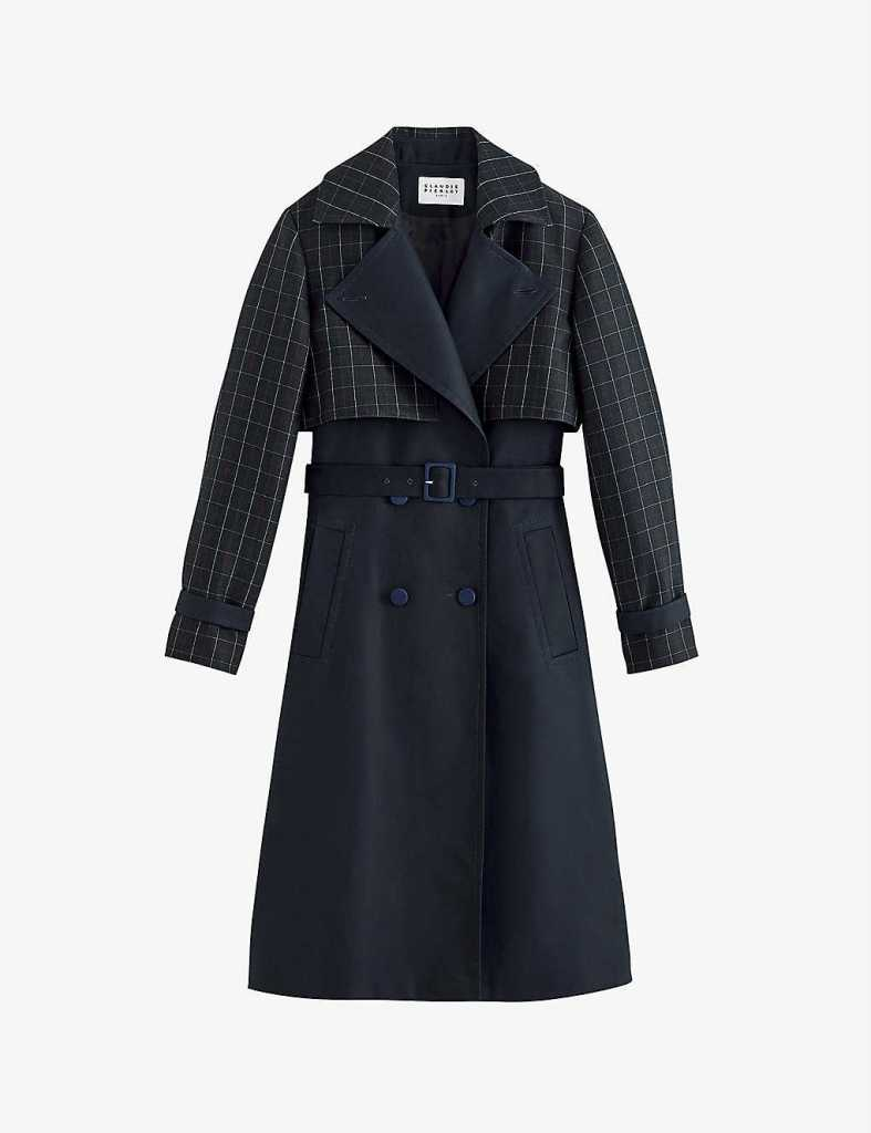 CLAUDIE PIERLOT Gardien double-breasted trench coat