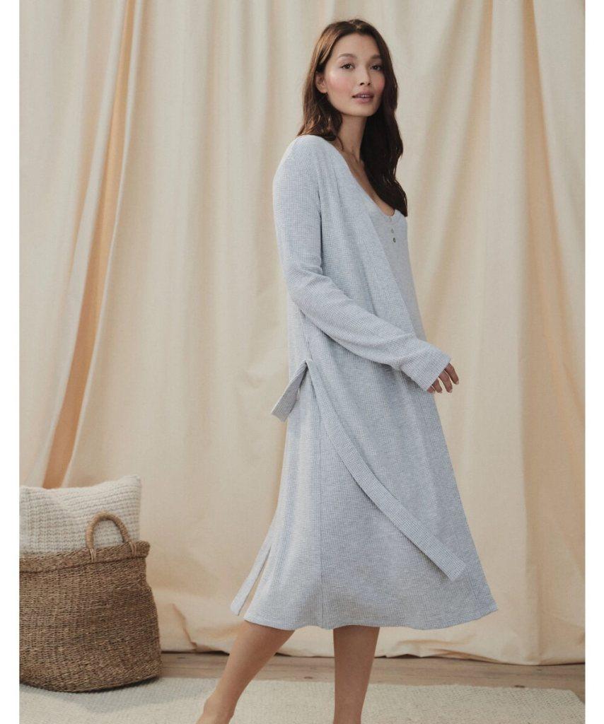 Waffle jersey sleep robe White Company