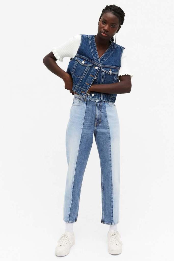 Taiki two-tone jeans