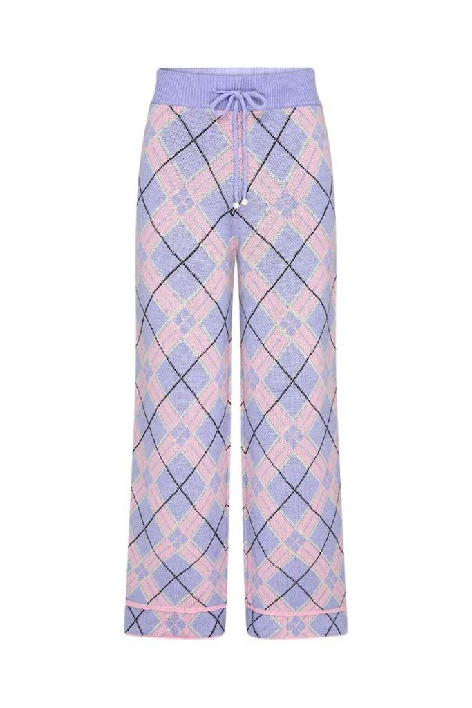 Isobel Check Knitted Trousers from Olivia Rubin