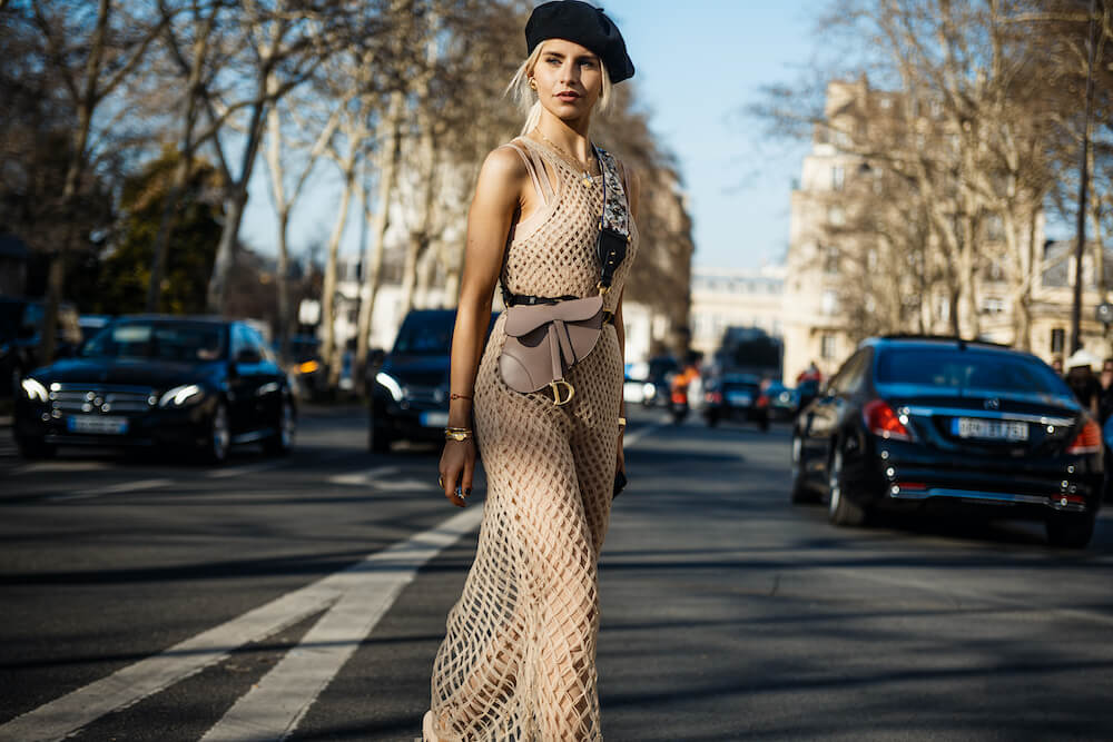 Caroline Daur after DIOR show, during Paris Fashion Week Womenswear Fall/Winter 2019/2020.