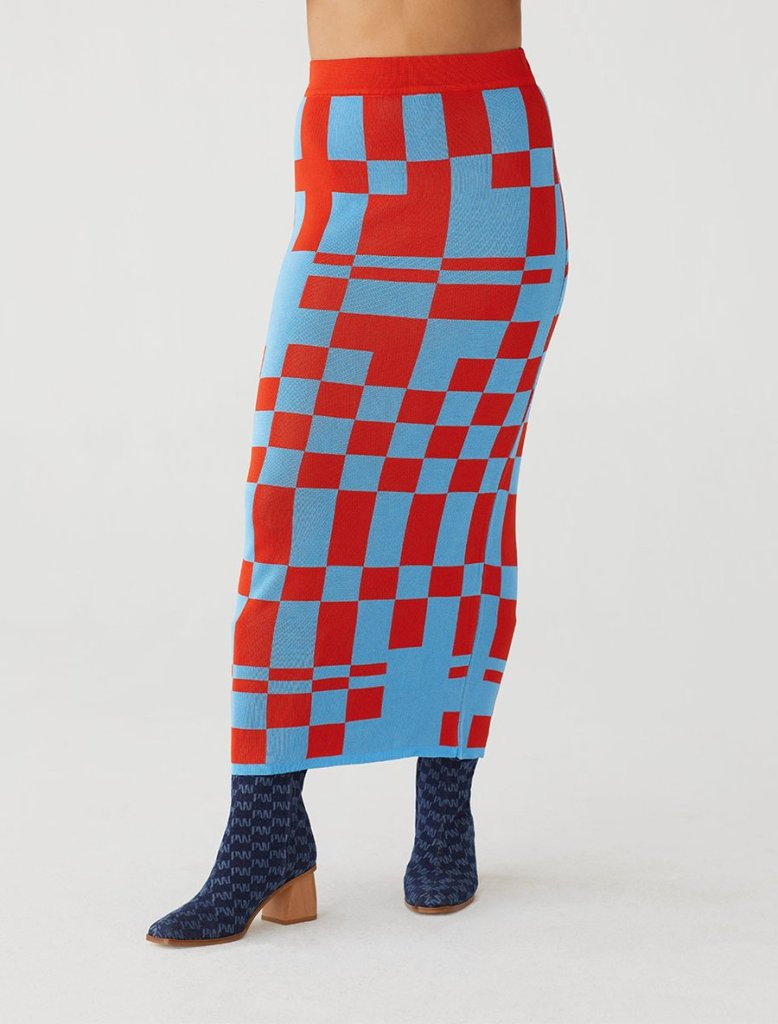 Paloma Wool checkerboard skirt