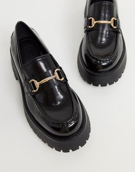 ASOS DESIGN Monster chunky loafers in black