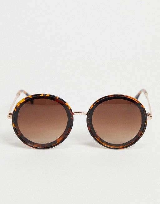 Liars & Lovers oversized 70s round sunglasses in tortoisehsell