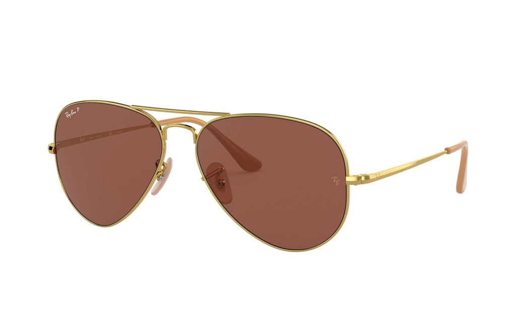 ray ban RB3689 purple lenses