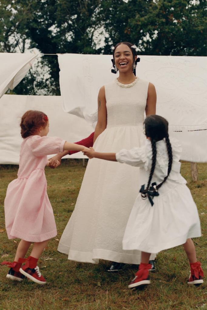 Simone Rocha x H&M pearl embellished white dress
