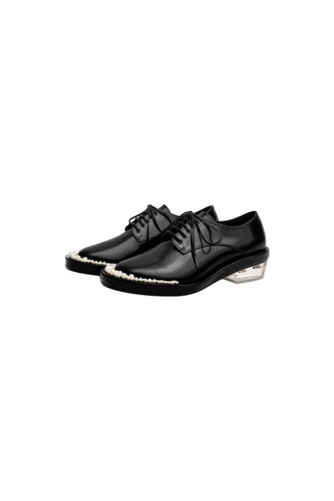 Leather Derby shoes simone rocha x h&m £199.99