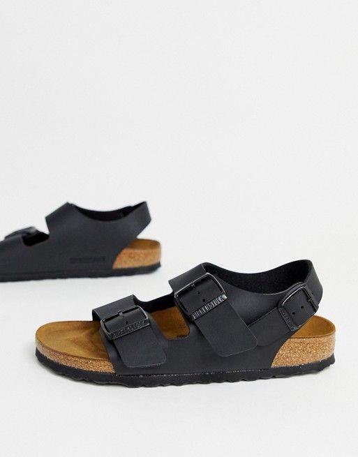 Birkenstock Milano flat sandals in black