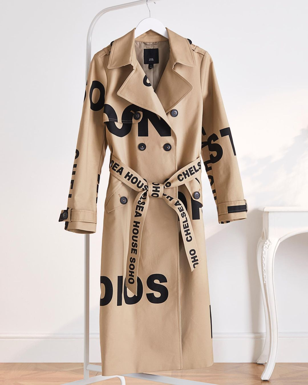 River Island Burberry dupe trench coat