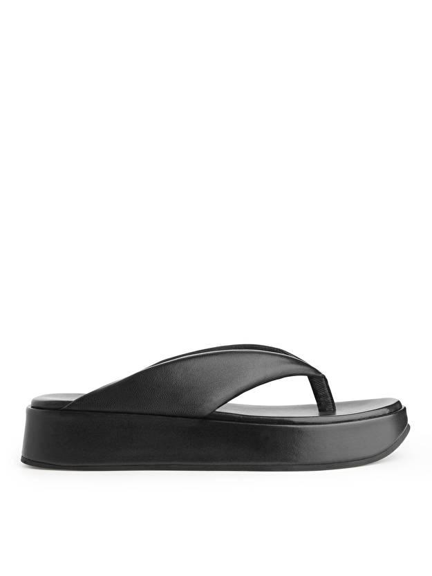 Black Flatform Thong Sandals Arket