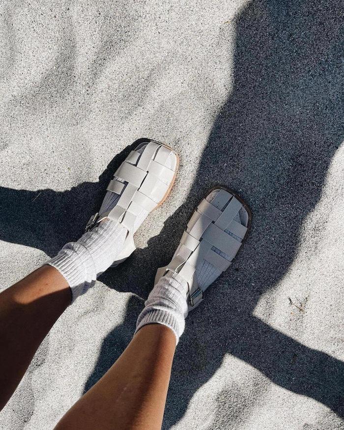 white fisherman sandals 2021