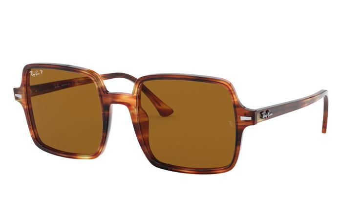 sunglasses for round face 2021 - Rayban Square II Polarized Classic Sunglasses